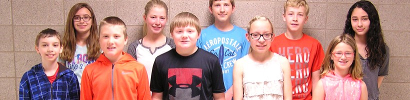 Foley Intermediate School Students of the Month for May, 2018.