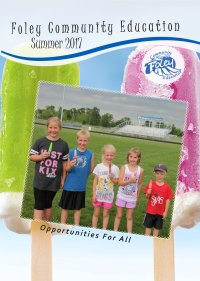 Community Education Brochure Cover, Spring, 2017.
