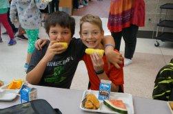 Foley Public School offers Farm to School items on their lunch menu! Sept., 2017.